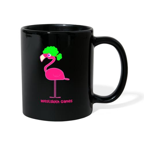 Green Afro Haired Flamingo - Yksivärinen muki
