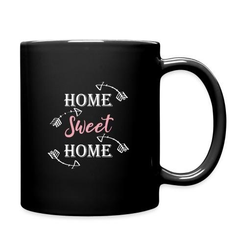 Hygge Hogar dulce hogar fondo oscuro - Taza de un color