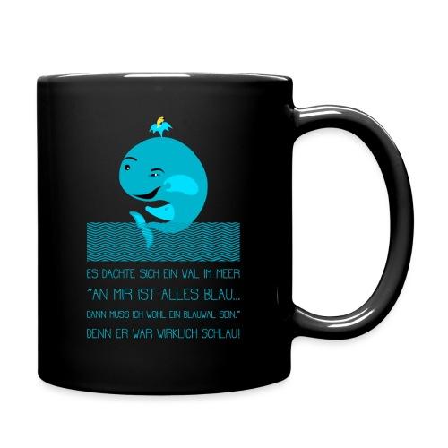 Blauwal - Tasse einfarbig