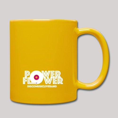 Logo PowerFlower bianco e fuxia - Tazza monocolore