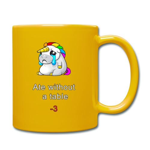 Ate without a table! - Full Colour Mug