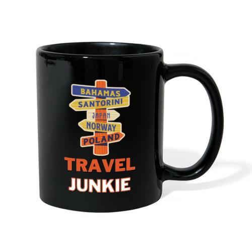 traveljunkie - i like to travel - Tasse einfarbig