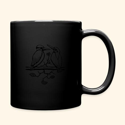 Eisvogel Liebe - Tasse einfarbig
