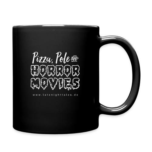 Pizza, Pole and Horrormovies - WHITE - Tasse einfarbig