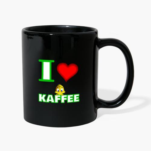 Ich liebe Kaffee - Tasse einfarbig