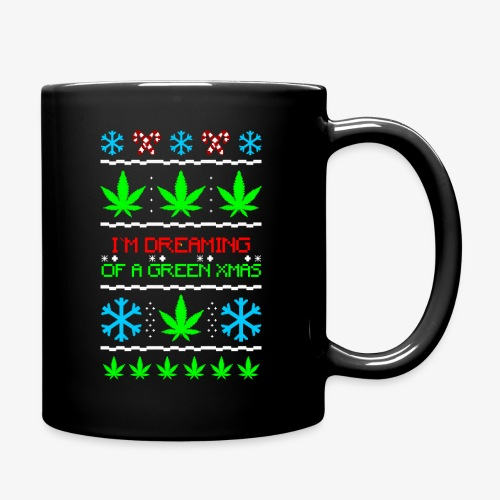 Green Ugly Christmas Weed - Tasse einfarbig