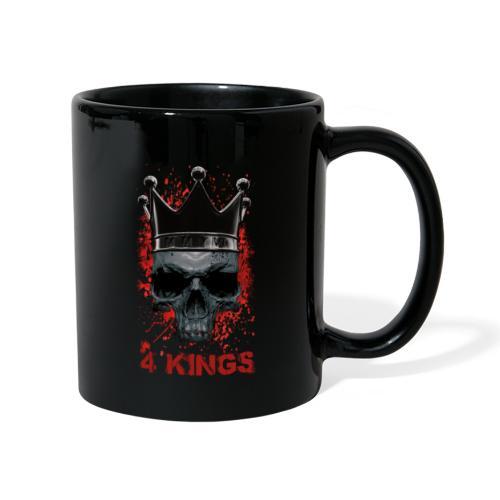 4 Kings Skull Design - Tasse einfarbig