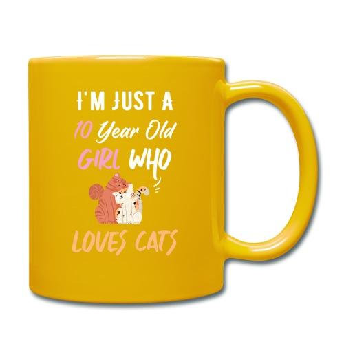 I'm just a 10 year old girl who loves cats - Mug uni