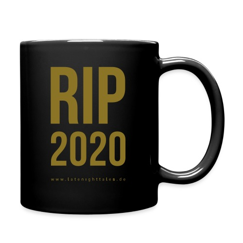 RIP 2020 Minimal -GOLD - Tasse einfarbig