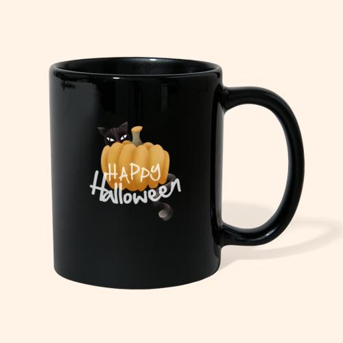 The Halloween Pumpkin-Cat - Tasse einfarbig