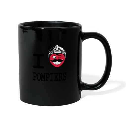 i_love_pompier_4 - Mug uni