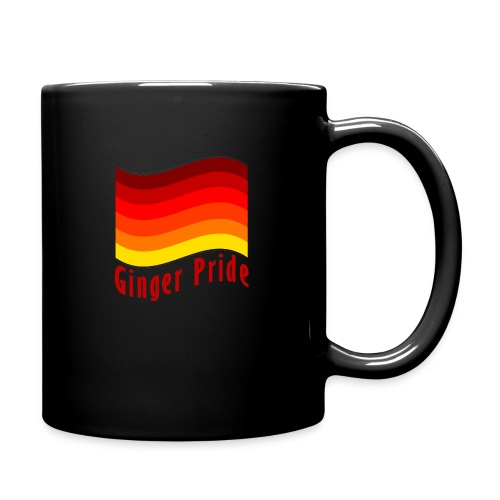 Ginger Pride flag Dark png - Full Colour Mug