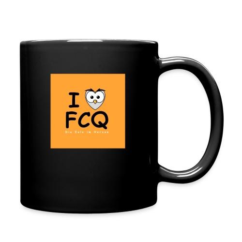 I Love FCQ button orange - Tasse einfarbig