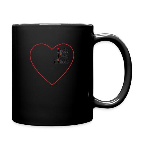 isch-lieb-disch-Herz - Tasse einfarbig