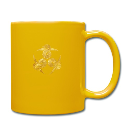 Three Geese Japanese Kamon in gold - Full Colour Mug