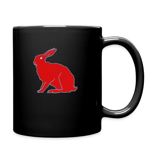 Roter Hase - Tasse einfarbig