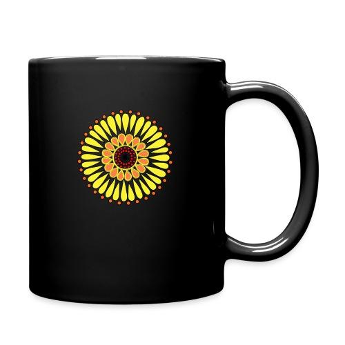 Yellow Sunflower Mandala - Full Colour Mug