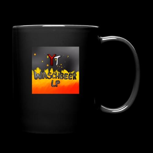 Waschbeer Design 2# Mit Flammen - Tasse einfarbig