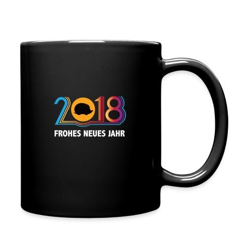 Frohes neues Jahr 2018 Igeldesign - Tasse einfarbig