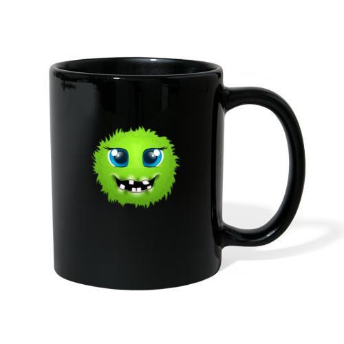 Grünes rundes Monster 18 - Tasse einfarbig