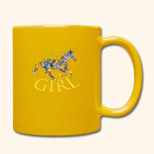 unicorn girl T-shirt - Tazza monocolore