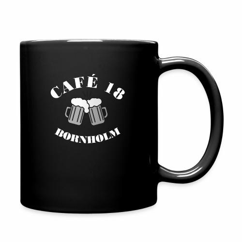 Cafe 18 BW - Ensfarvet krus