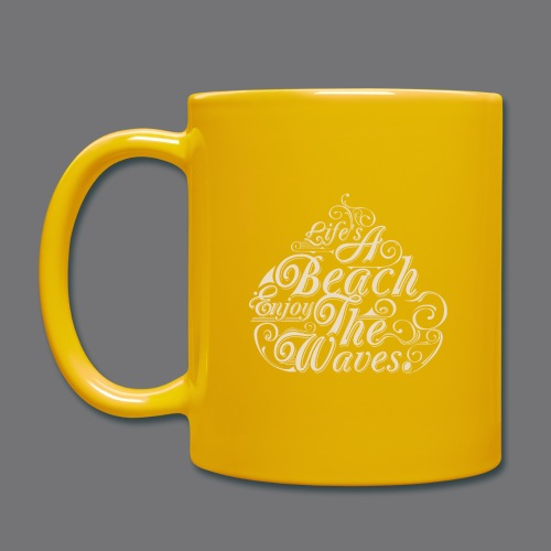 LIFE A BEACH ENJOY THE WAVES Tee Shirts - Full Colour Mug