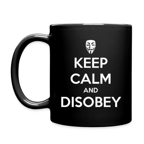 keep calm and disobey bla - Yksivärinen muki