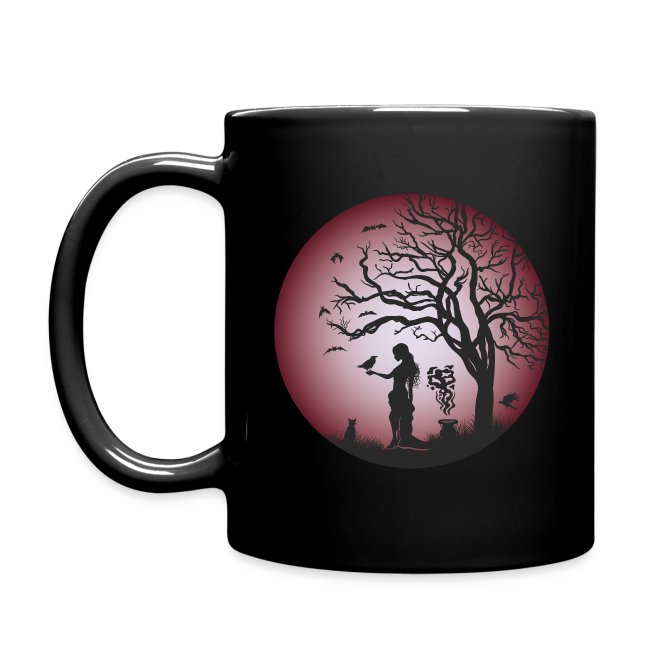 Halloween Silhouette red