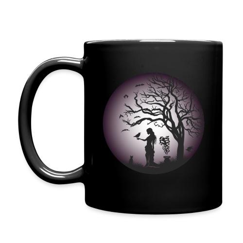 Halloween Silhouette Purp - Tasse einfarbig
