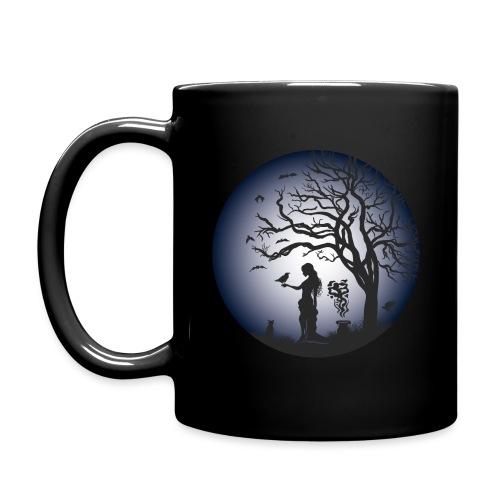 Halloween Silhouette blue - Tasse einfarbig