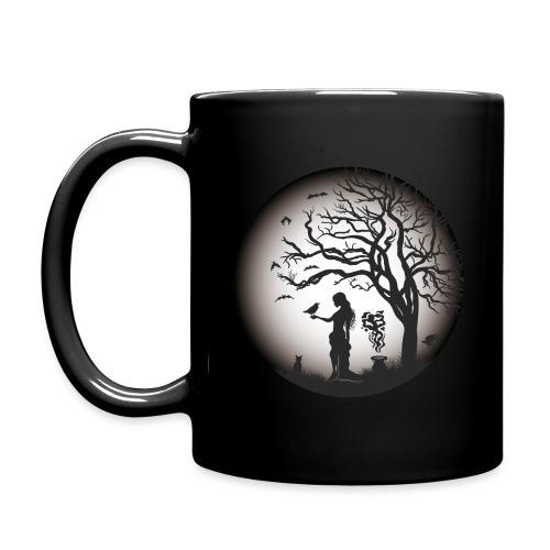 Halloween Silhouette s w - Tasse einfarbig