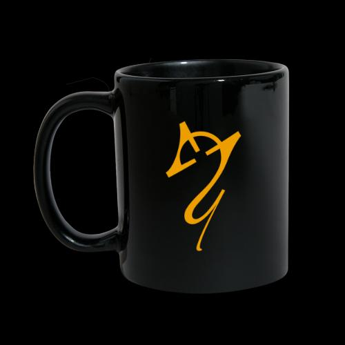 Overscoped logo yellow - Full Colour Mug