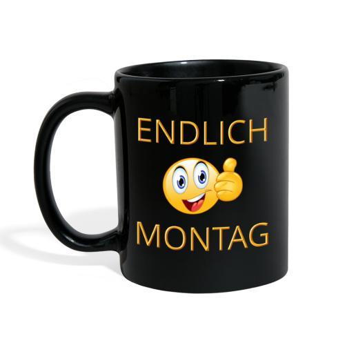 Tasse - Statement - ENDLICH MONTAG - Tasse einfarbig