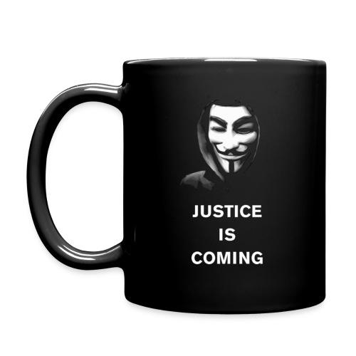 justice is coming - Yksivärinen muki