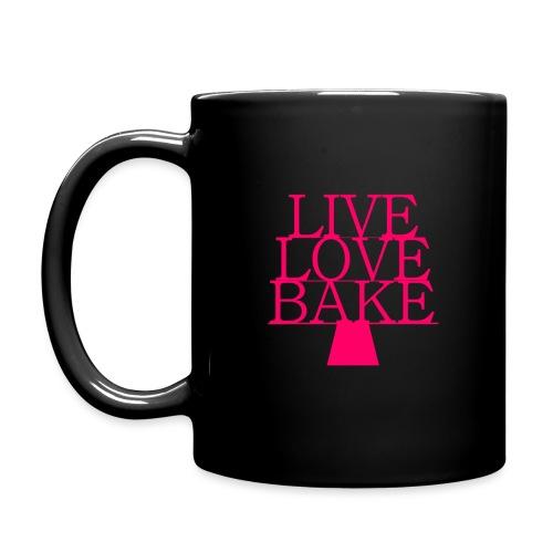 LiveLoveBake ekstra stor - Ensfarvet krus