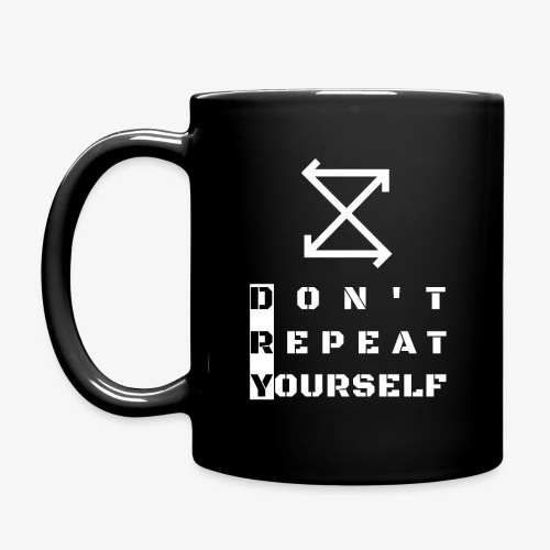 DRY: Don't Repeat Yourself - Full Colour Mug