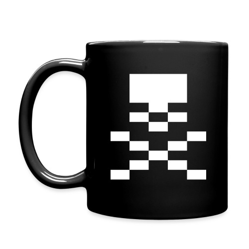pxl skull n bones png - Full Colour Mug