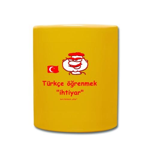 Türkce ögrenmek - Tasse einfarbig