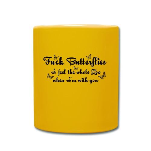 Schmetterling Liebe verliebt lustige coole Sprüche - Tasse einfarbig