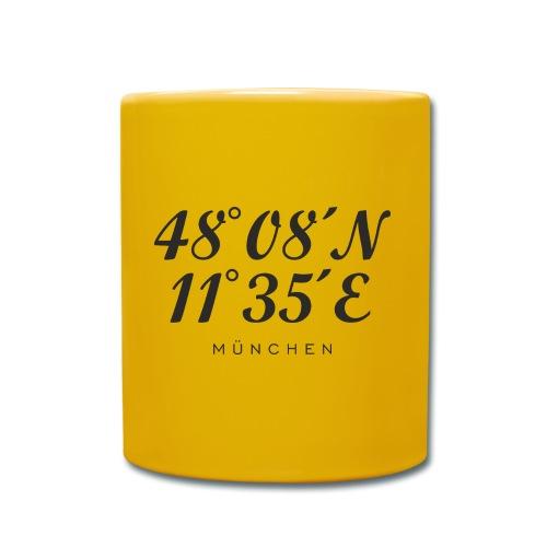Münchener Koordinaten (Schwarz) München - Tasse einfarbig