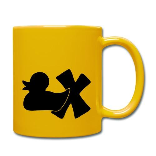 Ente mit X v3 3 klein - Tasse einfarbig