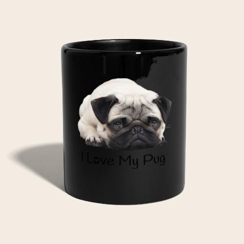 love my pug - Tasse einfarbig