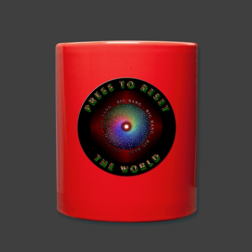 Press to reset the world - Full Colour Mug