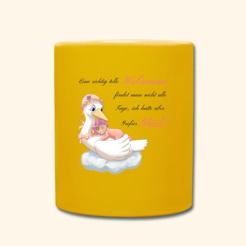 Geschenk fuer Hebamme Grosses Glueck - Tasse einfarbig