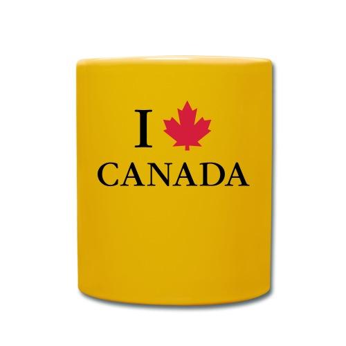 I love Canada Ahornblatt Kanada Vancouver Ottawa - Full Colour Mug