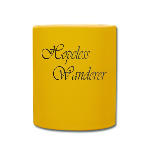 Hopeless Wanderer - Wander text - Full Colour Mug