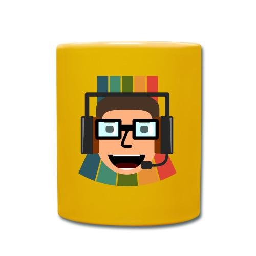 Retros Pixelshow Logo mit Hintergrund - Tasse einfarbig