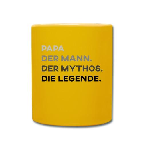Papa Der Mann Der Mythos Die Legende - Vatertag - Tasse einfarbig