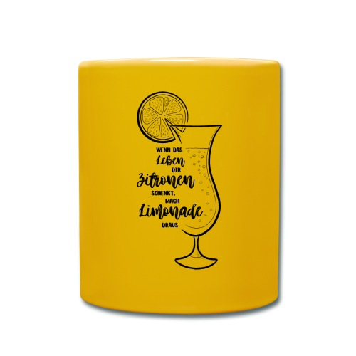 Wenn das Leben dir Zitronen schenkt - Illustration - Tasse einfarbig